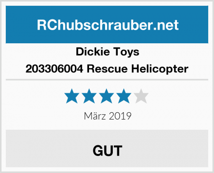 Dickie Toys 203306004 Rescue Helicopter Test