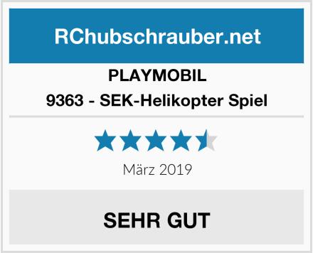 Playmobil 9363 - SEK-Helikopter Spiel Test