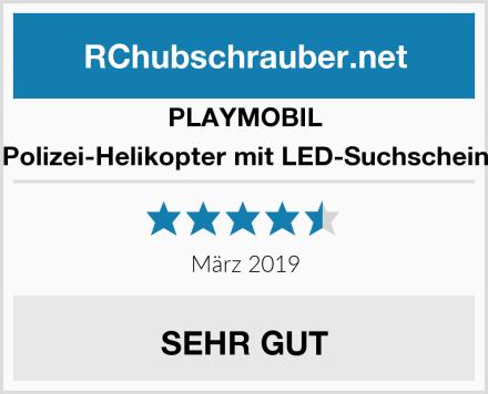 Playmobil 6874 - Polizei-Helikopter mit LED-Suchscheinwerfer Test