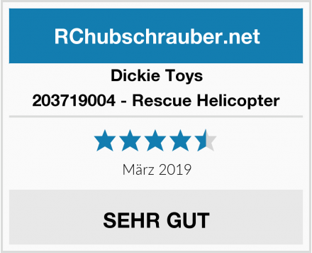 Dickie Toys 203719004 - Rescue Helicopter Test