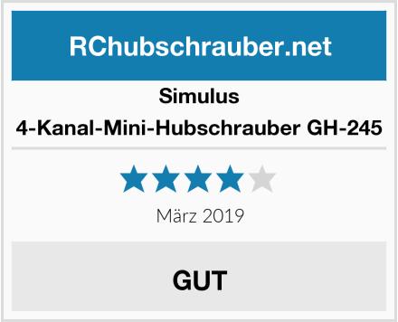 Simulus 4-Kanal-Mini-Hubschrauber GH-245 Test