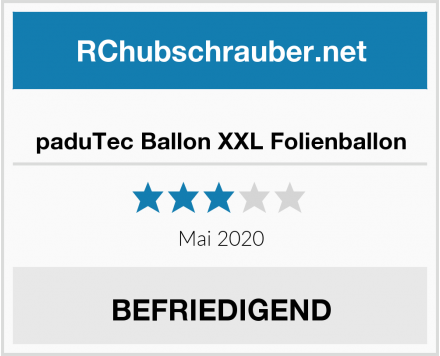 paduTec Ballon XXL Folienballon Test