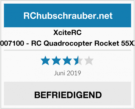 XciteRC 15007100 - RC Quadrocopter Rocket 55XXS Test