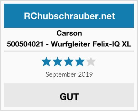 Carson 500504021 - Wurfgleiter Felix-IQ XL Test