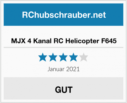 MJX 4 Kanal RC Helicopter F645 Test