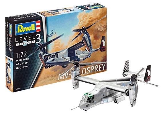 Revell Modellbausatz Flugzeug 1:72 - MV-22 Osprey